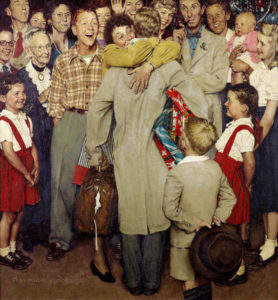 A masterful composition - Rockwell captures a moment of pure joy in a way few, more 'serious' artists, ever could.