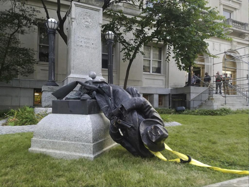 Tearing down statues of people you don't like is easy and has a long tradition among intolerant groups. Building statues of people you like is much harder.