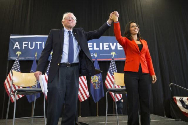 Sanders and Gabbard